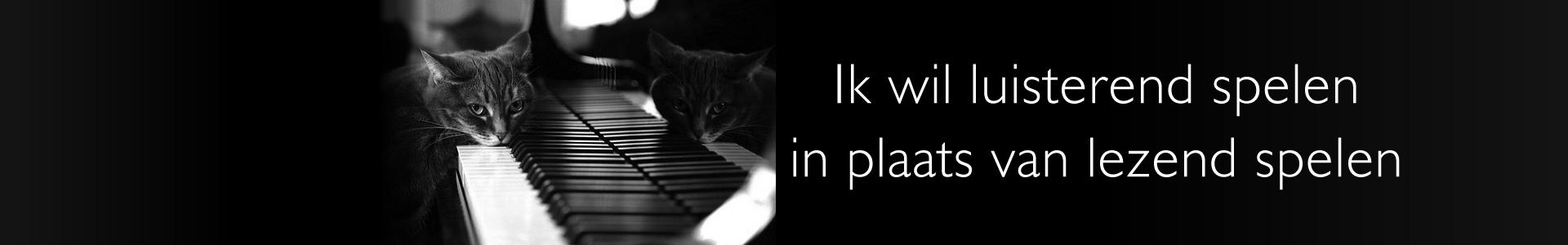 Piano improvisatie, luisterend leren spelen in plaats van lezend spelen